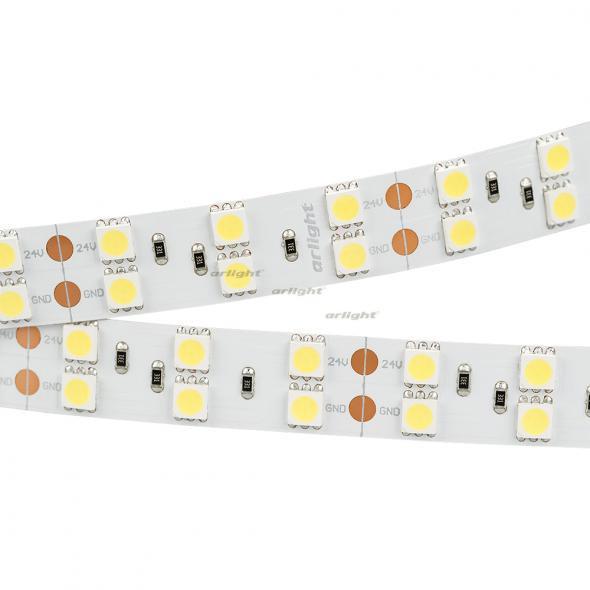Arlight Лента 5 метров RT 2-5000 24V White6000 2x2 (5060, 600 LED, LUX) цена 2017