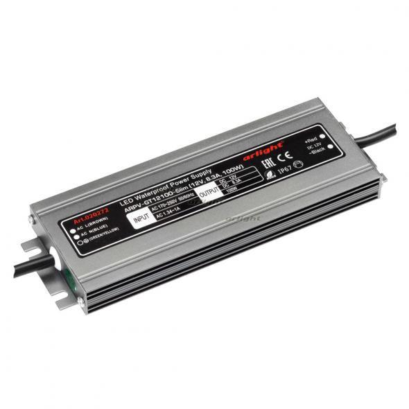 Arlight Блок питания ARPV-GT12100-Slim (12V, 8.3A, 100W) arlight блок питания arpv lv12005 12v 0 4a 5w