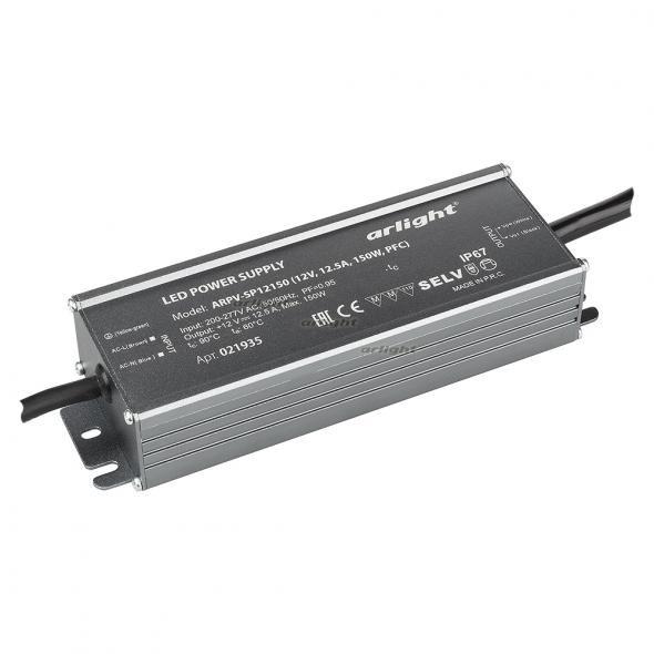 Arlight Блок питания ARPV-SP12150 (12V, 12.5A, 150W, PFC) arlight блок питания arpv lv12005 12v 0 4a 5w