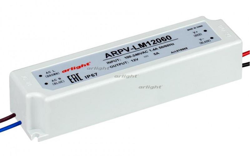 Arlight Блок питания ARPV-LM12060 (12V, 5A, 60W) arlight блок питания arpv lv12005 12v 0 4a 5w
