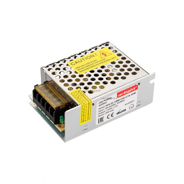 Arlight Блок питания APS-25-12BM (12V, 2.1A, 25W) arlight блок питания aps 100l 12bm 12v 8 3a 100w