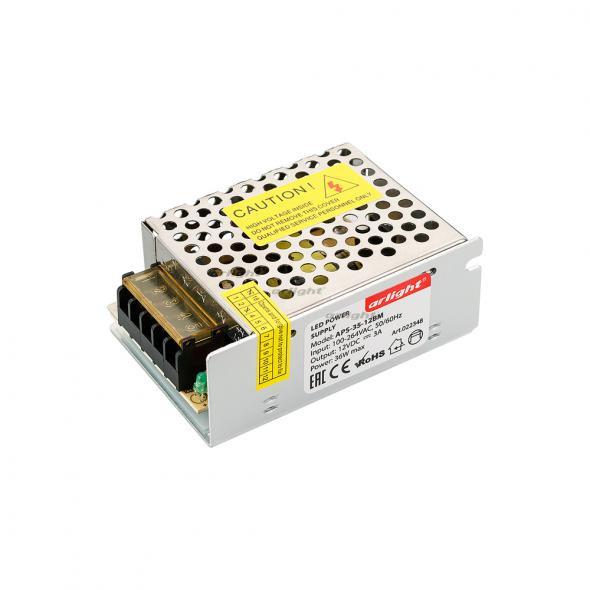 Arlight Блок питания APS-35-12BM (12V, 3A, 36W) arlight блок питания aps 100l 12bm 12v 8 3a 100w
