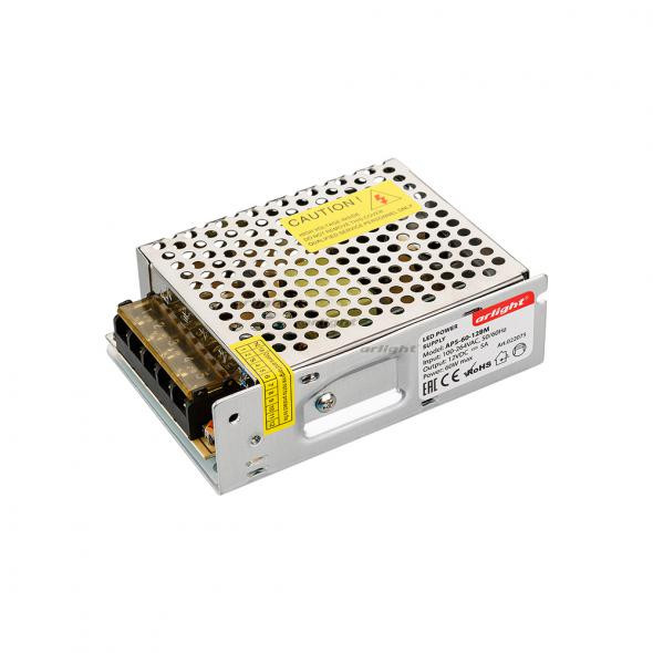 Arlight Блок питания APS-60-12BM (12V, 5A, 60W) arlight блок питания aps 100l 12bm 12v 8 3a 100w