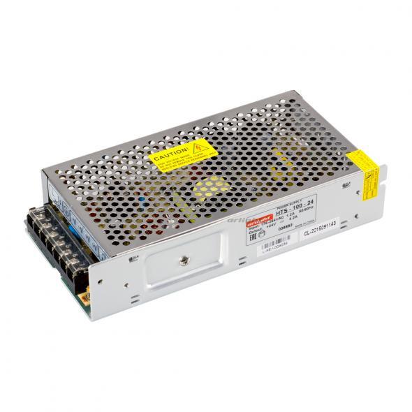 Arlight Блок питания HTS-100-24 (24V, 4.2A, 100W) 1pc 100w canbus bau15s py21w error free 1156py amber yellow 20 led 3030smd 7507 ac12v 24v