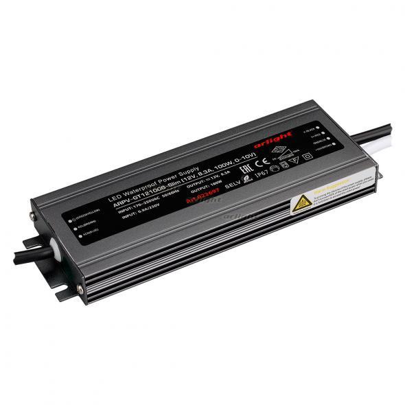 Arlight Блок питания ARPV-GT12100B-Slim (12V, 8.3A, 100W, 0-10V) arlight блок питания arpv lv12005 12v 0 4a 5w