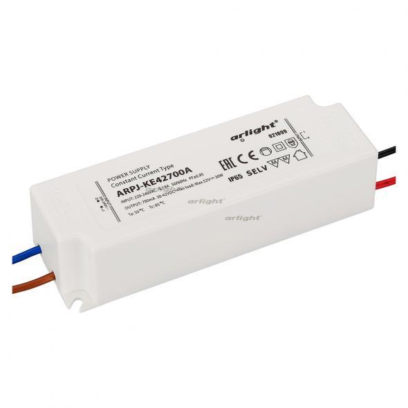 Arlight Блок питания ARPJ-KE42700A (30W, 700mA, PFC) контроллер arlight блок питания arpj lm421400 60w 1400ma