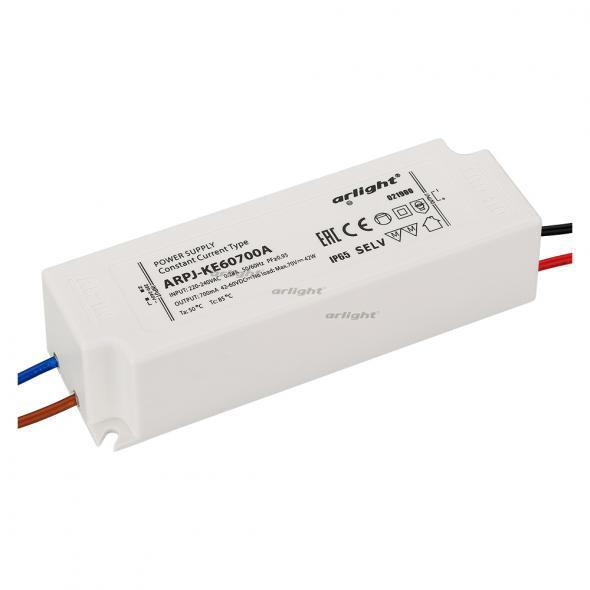 Arlight Блок питания ARPJ-KE60700A (42W, 700mA, PFC) контроллер arlight блок питания arpj lm421400 60w 1400ma
