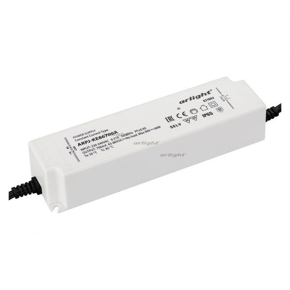 Arlight Блок питания ARPJ-KE86700A (60W, 700mA, PFC) контроллер arlight блок питания arpj lm421400 60w 1400ma