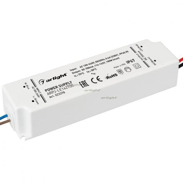 Arlight Блок питания ARPJ-LE142700 (100W, 700mA, PFC) контроллер arlight блок питания arpj lm421400 60w 1400ma
