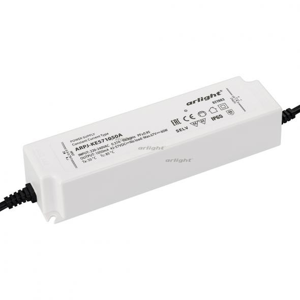 Arlight Блок питания ARPJ-KE571050A (60W, 1050mA, PFC) контроллер arlight блок питания arpj lm421400 60w 1400ma