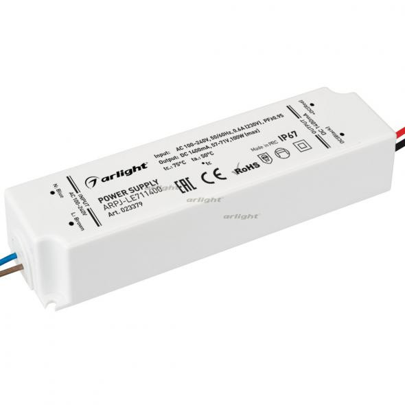 Arlight Блок питания ARPJ-LE711400 (100W, 1400mA, PFC) контроллер arlight блок питания arpj lm421400 60w 1400ma