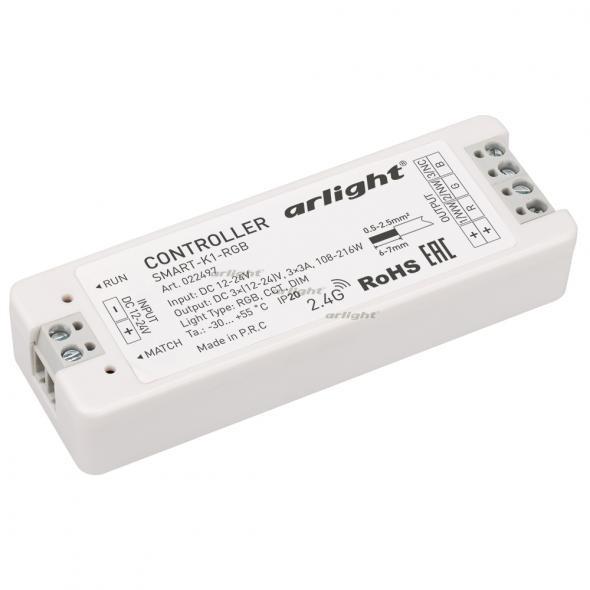 Arlight Контроллер SMART-K1-RGB (12-24V, 3x3A) arlight контроллер hx 801sb 2048 pix 5 24v sd card