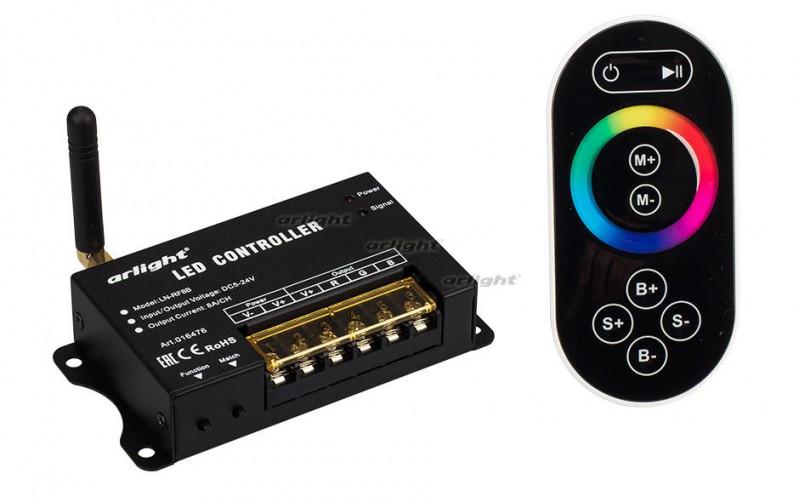 Arlight Контроллер LN-RF8B(5-24V,120-576W,ПДУ сенсор 2.4G) arlight контроллер hx 801sb 2048 pix 5 24v sd card