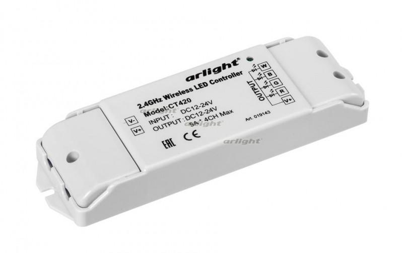 Arlight Контроллер CT420 (12-24V, 240-480W, 4CH) arlight контроллер hx 801sb 2048 pix 5 24v sd card