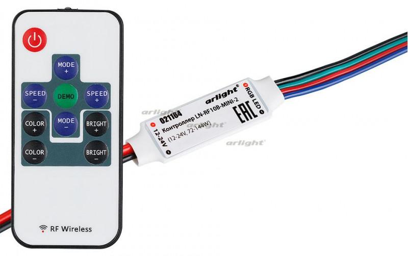Arlight Контроллер LN-RF10B-MINI-2 (12-24V,72-144W, ПДУ 10кн) arlight контроллер hx 801sb 2048 pix 5 24v sd card
