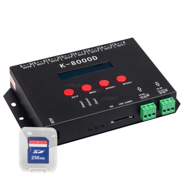Arlight Контроллер DMX K-8000D (5V, SD-card, 8x512) arlight контроллер sunlite slesa u8