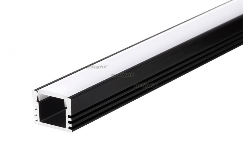 Arlight Алюминиевый Профиль 2 метра PDS-S-2000 ANOD Black arlight алюминиевый профиль 2 метра pds s 2000 anod white