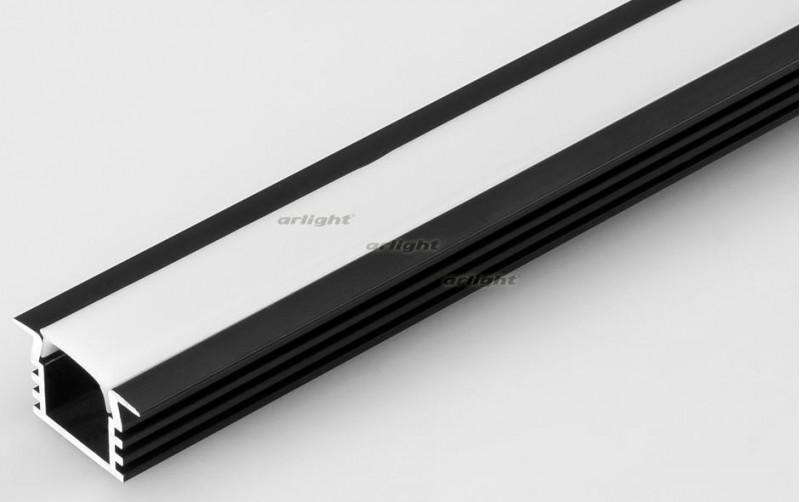 Arlight Алюминиевый Профиль 2 метра PDS-F-2000 ANOD Black arlight алюминиевый профиль 2 метра pds s 2000 anod white