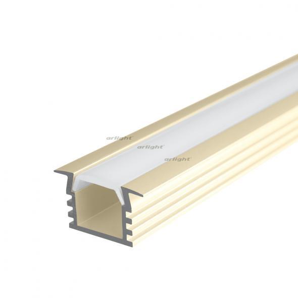 Arlight Алюминиевый Профиль 2 метра PDS-F-2000 ANOD Champan arlight алюминиевый профиль 2 метра pds s 2000 anod white