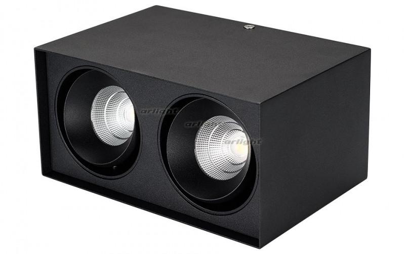 Arlight Светильник SP-CUBUS-S100x200BK-2x11W Warm White 40deg arlight светильник sp cubus s100x100wh 11w warm white 40deg