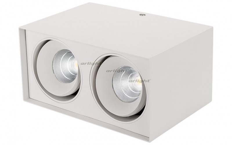 Arlight Светильник SP-CUBUS-S100x200WH-2x11W Warm White 40deg arlight светильник sp cubus s100x100wh 11w warm white 40deg